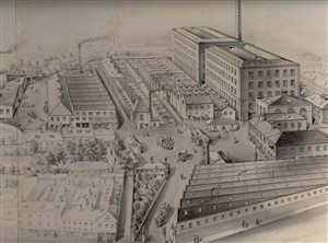 Photo:Artists Drawing of Grout's Silk Factory, Great Yarmouth