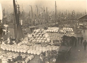 Photo:Drifters and barrels at the Fish Wharf