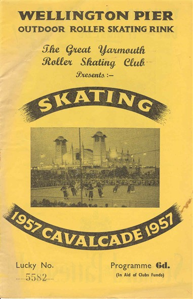 Photo:Cover of Skating Cavalcade programme 1957