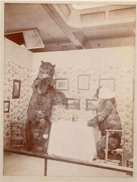Photo:Christmas Display 1909 - Goldilocks and the 3 Bears