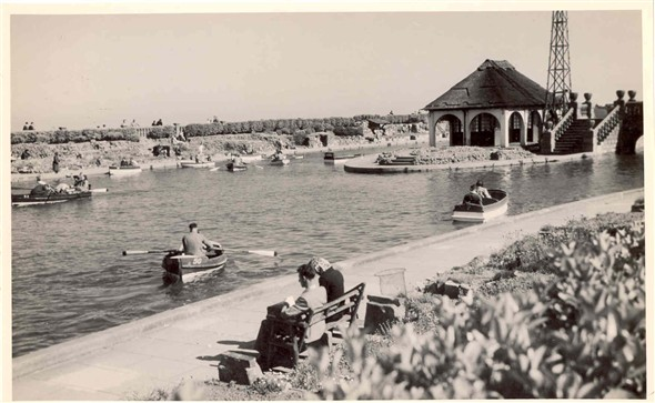 Photo:The Northern Boating Lake, near the Waterways in the 1950's