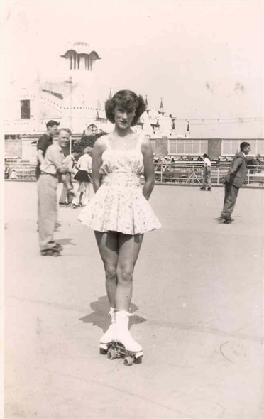 Photo:Wendy Parker Skating at Wellington Pier, c. 1950