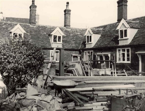Photo:Building work at the Fisherman's Hospital c.1950s