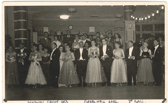 Photo:Cometition dancers at the Floral Hall in 1953