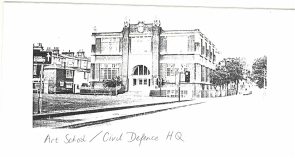 Photo:Art School as Civil Defence HQ in Second World War