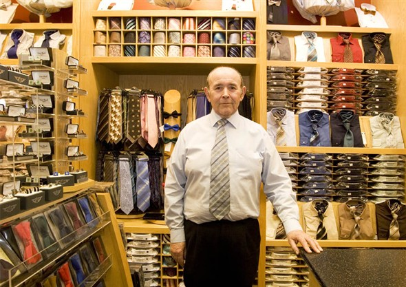 Photo:Portrait of G. Richardson in the menswear department