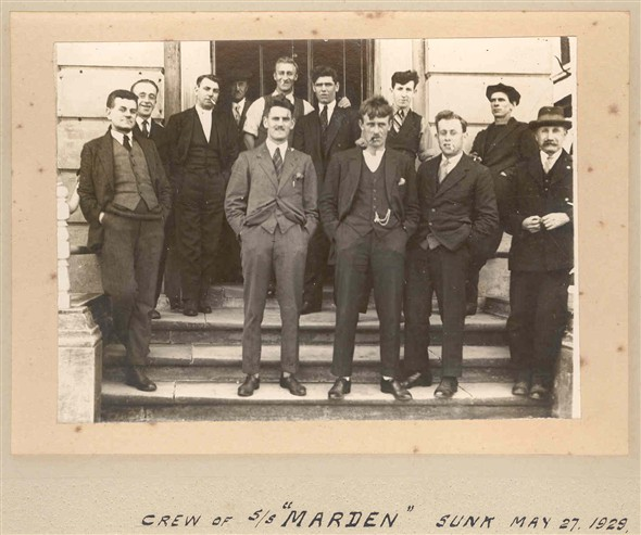 Photo:Crew of SS 'Marden' sunk May 27th 1929