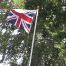 Photo:The Union Flag flying at the front of the school