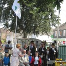 Photo:The Alderman Swindell Primary School logo on the flag