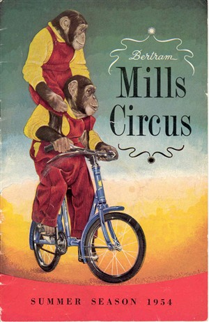 Photo:Bertram Mills circus programme, 1954