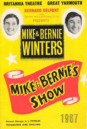 Photo:Britannia Pier theatre programme - Mike & Bernie Winters, 1967