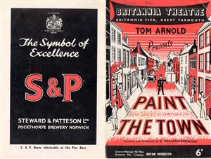Photo:Britannia Pier theatre programme cover, 'Paint the Town', probably 1950's