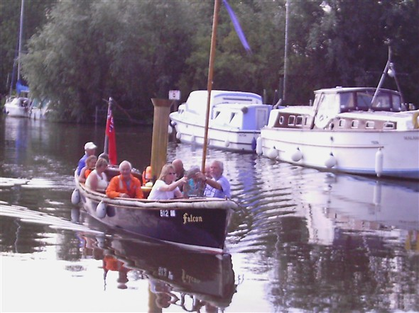 Photo:Falcon steam launch carrying passengers on the broads
