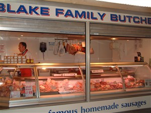 Photo:Blake Family Butchers Stall on Great Yarmouth Market