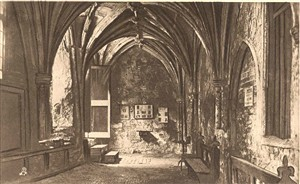 Photo:Postcard showing the interior of Greyfriars Cloisters