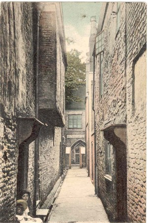 Photo:Postcard of Greyfriars Row, posted 1912