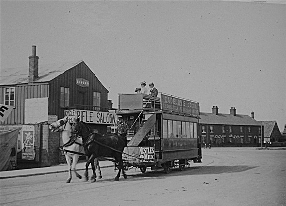 Photo:Horse drawn tram in Gorleston, c. 1903/1904