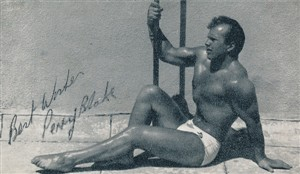 Photo:High Board Diver Perry Blake from signed photo given to Aqua Belle Rita Stone