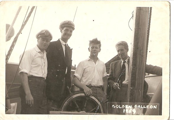 Photo:Photograph of Brian Beech and the crew of the Golden Galleon in 1959