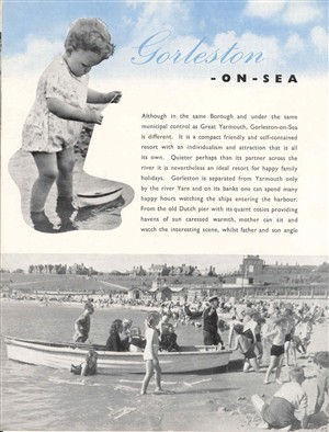 Photo:Photograph of the Official Guide, 'Gorleston on Sea', 1980's