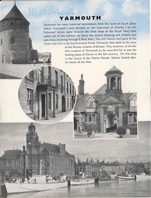 Photo:Photograph of the Official Guide, 'Historical Yarmouth' 1980's