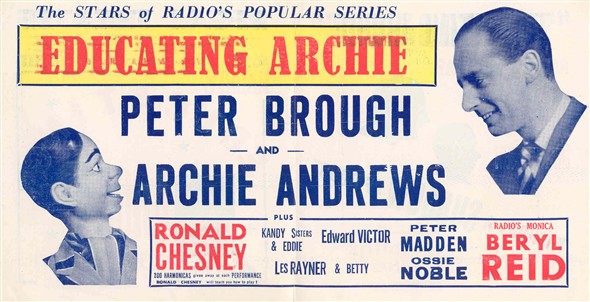 Photo:Inside cover of Regal Theatre Programme for Educating Archie, July 5th 1953