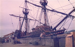 Photo:1: The replica 'Golden Hind'