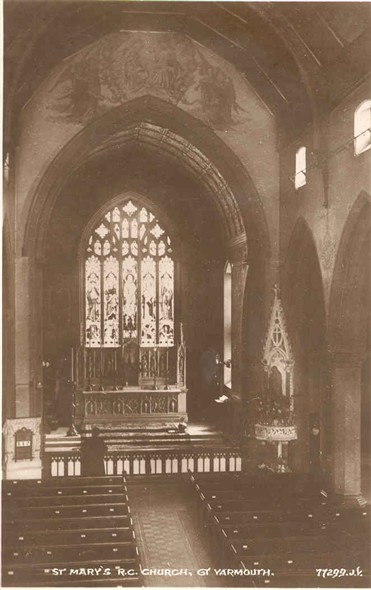 Photo:St Mary's RC Church, posted 1929