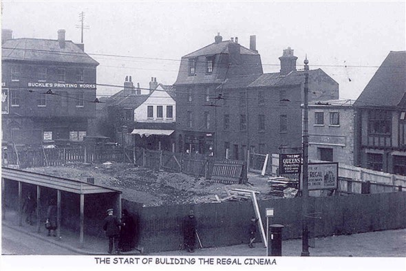 Photo:The start of building the Regal Cinema