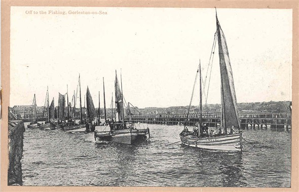 Photo:Page 7: Off to the Fishing, Gorleston (a general view of the fishing fleet leaving port)