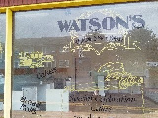 Photo:Frobt window of Watson's Bakery corner of Howard Street North Great Yarmouth