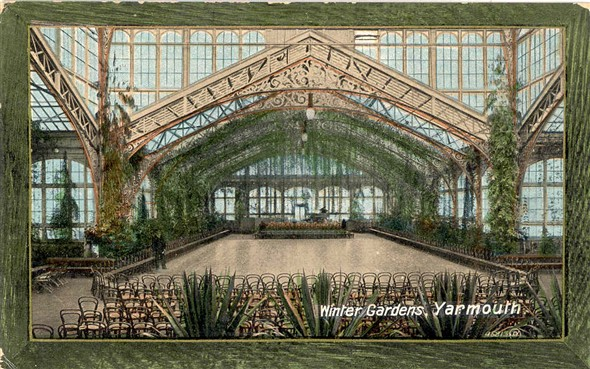 Photo:Postcard showing interior of Winter Gardens