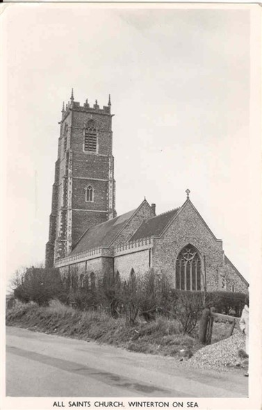 Photo:Postcard of Winterton Church, posted 1969