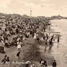 Photo:Postcard showing the beach, north of the jetty, with the revolving tower in the background