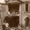 Page link: Photograph of 1915 bomb damage caused by a Zeppelin raid