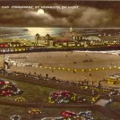 Photo:Another colourised postcard of Britannia Pier by 'night'
