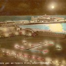 Photo:Postcard showing Britannia Pier by 'night' - obviously a colourised version of the first postcard