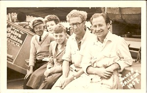 Photo:the crew of golden galleon do you know who these people are I  one of the them joan knights but can you help ?
