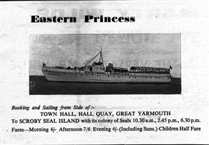 Photo:Leaflet advertising trips on the Eastern Princess