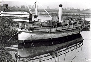 Photo:ss gorleston at her winter mooring gunthorpe