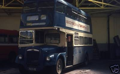 Photo:No 12 (FEX 112) on loan to Eastern Counties Omnibus Company Ltd and pictured inside their former Wellington Road depot