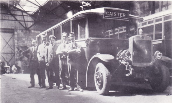 Photo:No ? (EX 1116) one of the seven Guy BB saloons delivered to the Corporation in 1924 to replace electric trams. This early photo probably taken inside the Caister Road depot