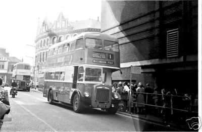 Photo:No 11 (FEX 111) at the Regal bus stand followed by one of the Leyland PD2s