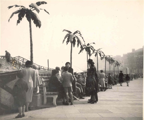 Photo:Palm trees on Great Yarmouth Seafront c.1950