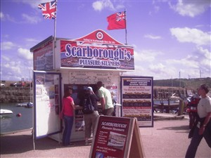 Photo:The stall at Scarborough where you can book trips on the Regal Lady