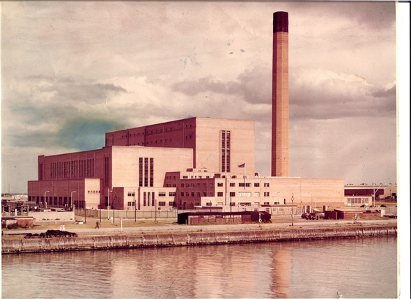 Photo:Colour photograph of South Denes Power Station, used for the cover of the official brochure