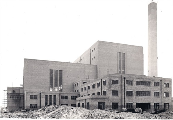 Photo:Photograph of completed South Denes Power Station, 1958
