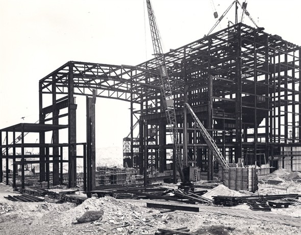 Photo:Photograph showing the construction of the South Denes Power Station, 1954-1958