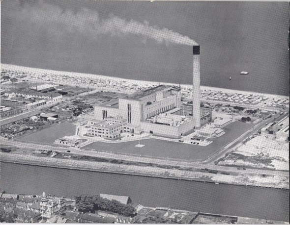 Photo:Photograph of South Denes Power Station taken from the air - after 1958