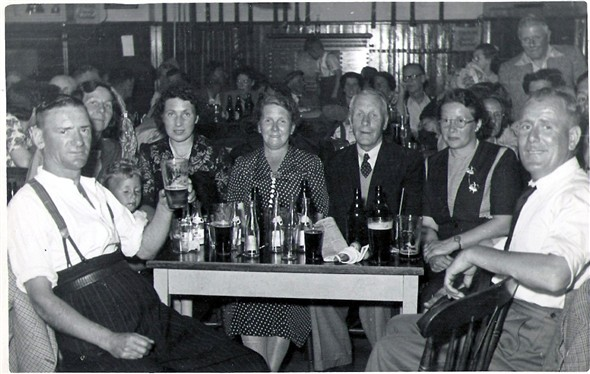 Photo:My Grandparents (far right) and friends at Great Yarmouth Working Mens Club